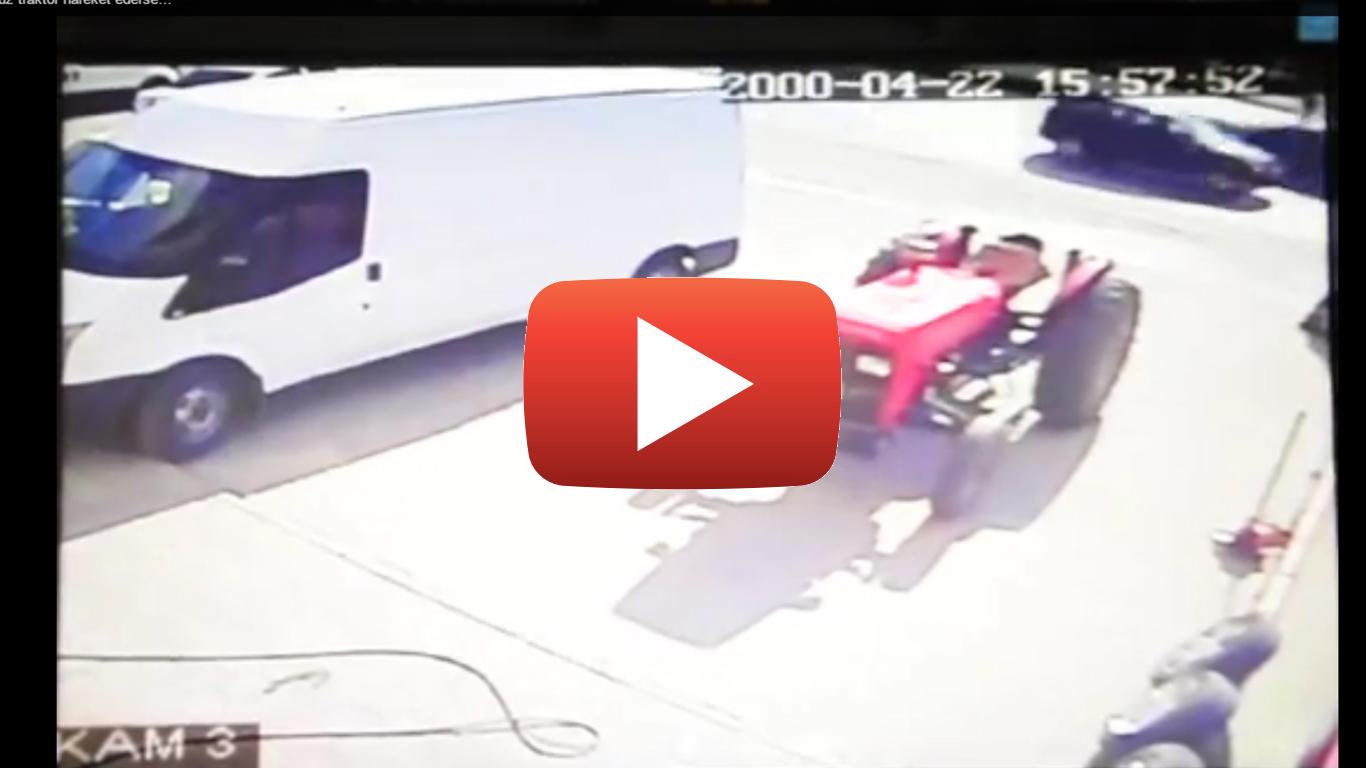 Şoförsüz traktör hareket ederse…