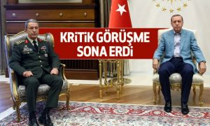 Cumhurbaşkanı Erdoğan, Org. Akar'la görüştü