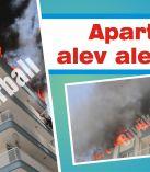 Apartman alev alev yandı
