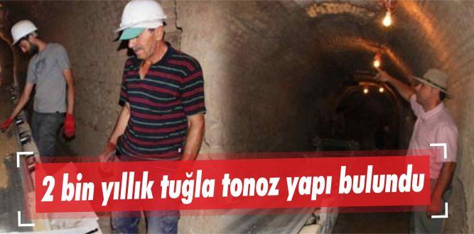 2 bin yıllık tuğla tonoz yapı bulundu