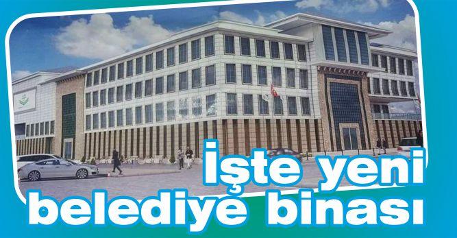 İşte yeni belediye binası