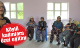 Köylü kadınlara özel eğitim