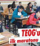 TEOG'un ilk maratonu sona erdi