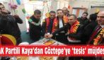 AK Partili Kaya'dan Göztepe'ye 'tesis' müjdesi