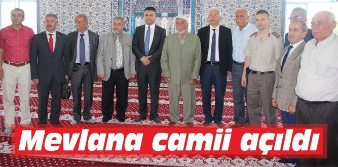 Mevlana camii açıldı