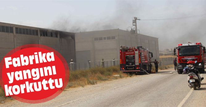 Fabrika yangını korkuttu