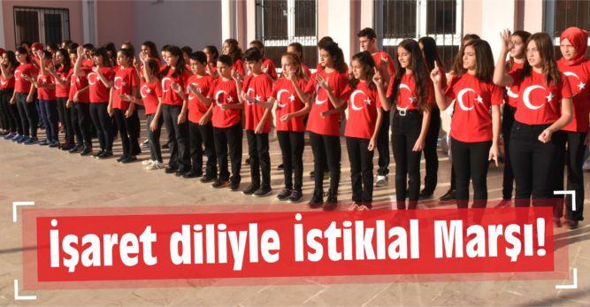 İşaret diliyle İstiklal Marşı!