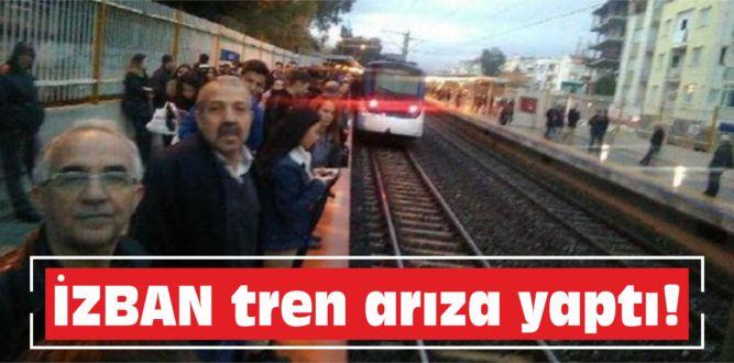 İZBAN tren arıza yaptı!