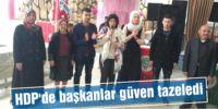 HDP'de başkanlar güven tazeledi