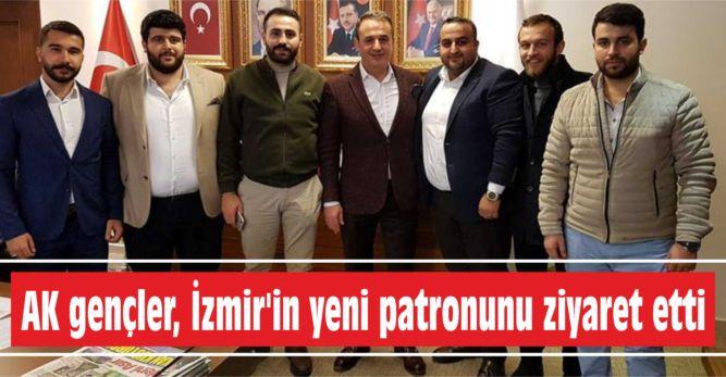 AK gençler, İzmir'in yeni  patronunu ziyaret etti