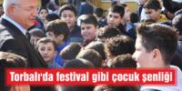 Torbalı'da festival gibi çocuk şenliği