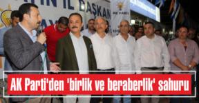 AK Parti'den 'birlik ve  beraberlik' sahuru