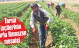 Tarım işçilerinin zorlu  Ramazan mesaisi