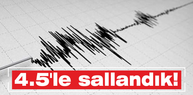 Torbalı'da deprem paniği!