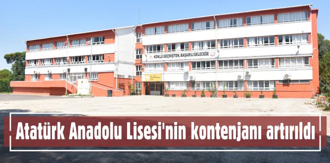 Atatürk Anadolu Lisesi'nin kontenjanı artırıldı