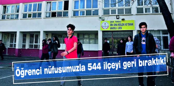 Öğrenci nüfusumuzla 544 ilçeyi geri bıraktık!