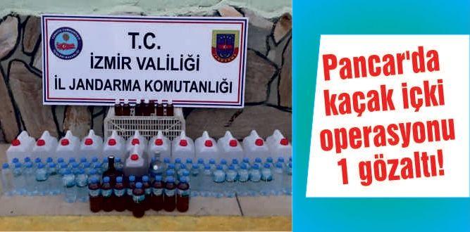 Pancar'da kaçak içki operasyonu: 1 gözaltı!