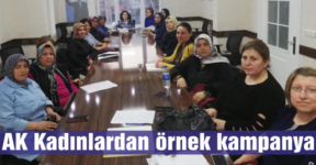 AK Kadınlardan  örnek kampanya
