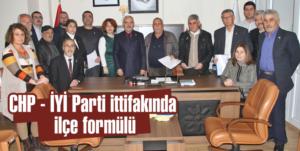 CHP – İYİ Parti ittifakında   ilçe formülü