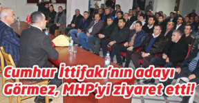 Cumhur İttifakı'nın adayı  Görmez, MHP'yi ziyaret etti!