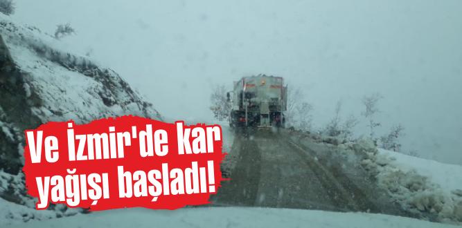 Ve İzmir'de kar yağışı başladı!
