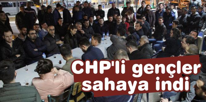 CHP'li gençler sahaya indi
