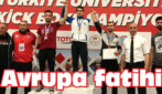 Genç sporcu Avrupa Şampiyonu oldu
