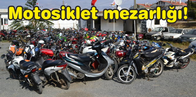 3 tır motosiklet Milli Emlak'a götürüldü