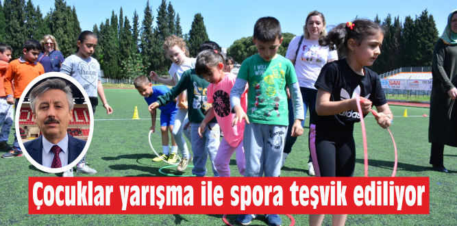 İlkokul öğrencileri fiziksel etkinlik ile yarıştı