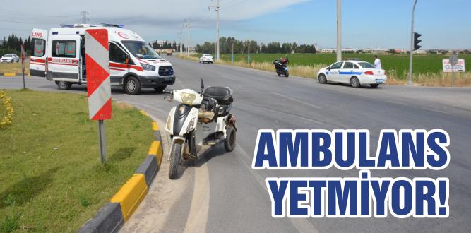 180 bin kişiye  3 ambulans