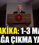 Cumhurbaşkanı Erdoğan: 1, 2, 3 Mayıs tarihlerinde 31 ilimizde sokağa çıkma yasağı ilan edilecek