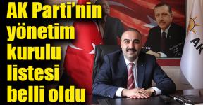 AK Parti Torbalı'da yönetim kurulu listesi belli oldu