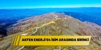 AKFEN ENERJİ 54 İSİM ARASINDA BİRİNCİ