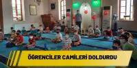 Öğrenciler camileri doldurdu