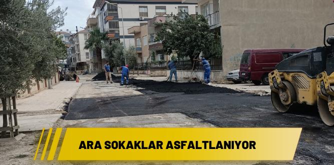 Ara sokaklar asfaltlanıyor