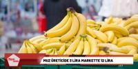 Muz üreticide 3 lira markette 12 lira